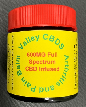 Valley CBDS Arthritis and Pain Balm 600 MG Full Spectrum CBD Infused 1 oz size