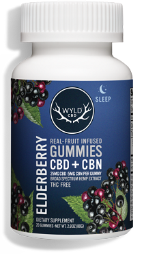 Wyld ELDERBERRY GUMMIES Sleep Aid CBD + CBN
