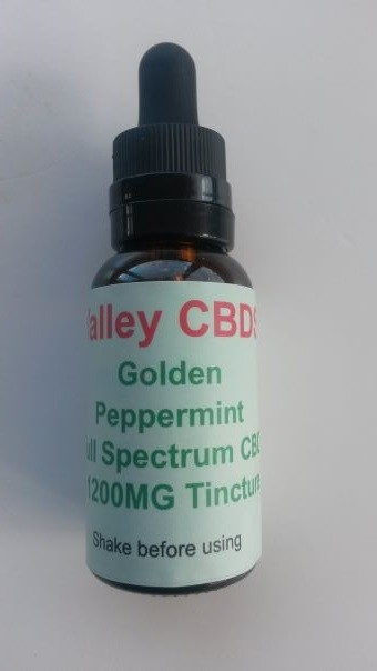 Valley CBDS Full Spectrum Natural Peppermint Flavor 1200MG