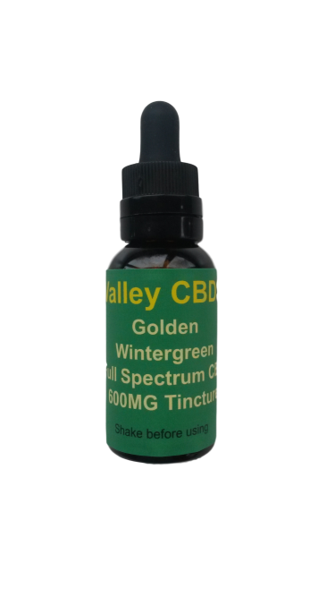 Valley CBDS Full Spectrum Natural Wintergreen Flavor 600MG